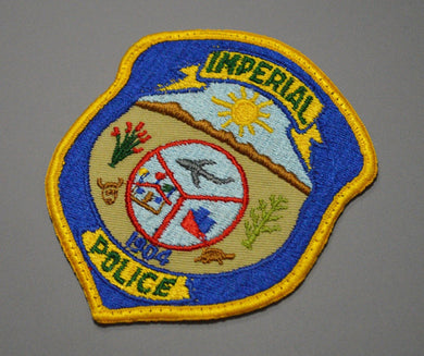 Imperial California Police Patch ++ Old Style Rare
