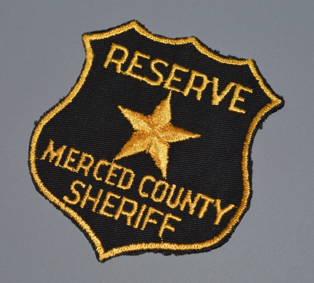 Merced County California Sheriff Reserve Patch ++ o/s Rare CA