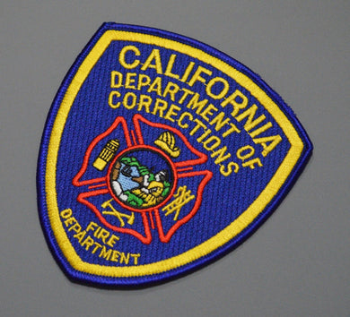 California Dept. of Corrections Fire Department Patch ++ Mint CA