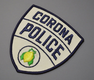 Corona California Police Patch ++ 1st Issue Mint CA
