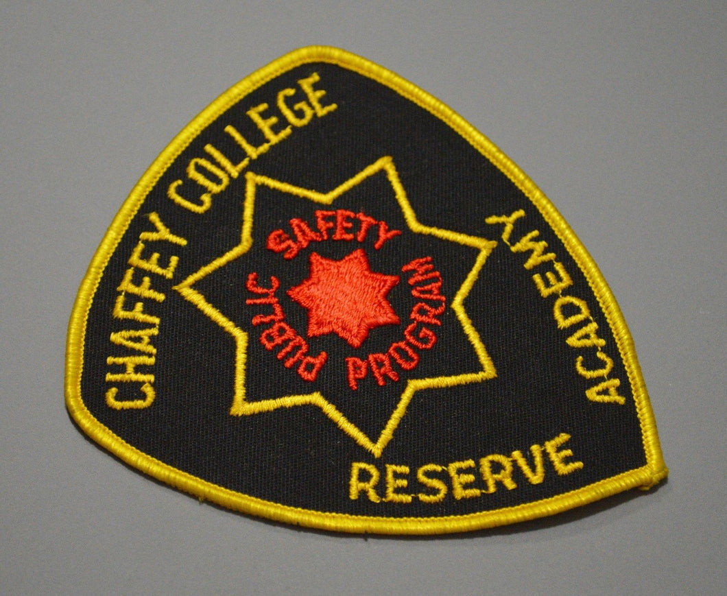 Chaffey College California Public Safety Reserve Academy Patch