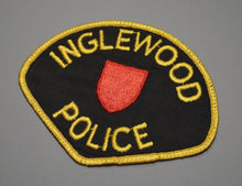 Inglewood California Police Civil Defense Patch ++ Red Shield 1950s CA HTF