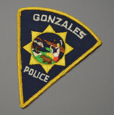Gonzales California Police Patch ++ o/s CA Pie Shape