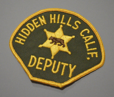 Hidden Hills California Deputy Police Patch ++ Los Angeles County CA