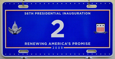 2009 Presidential Inaugural License Plate Tag #2 US VP Biden