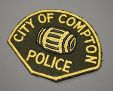Compton California 1st Issue Police Patch ++ Mint Los Angeles County CA HTF