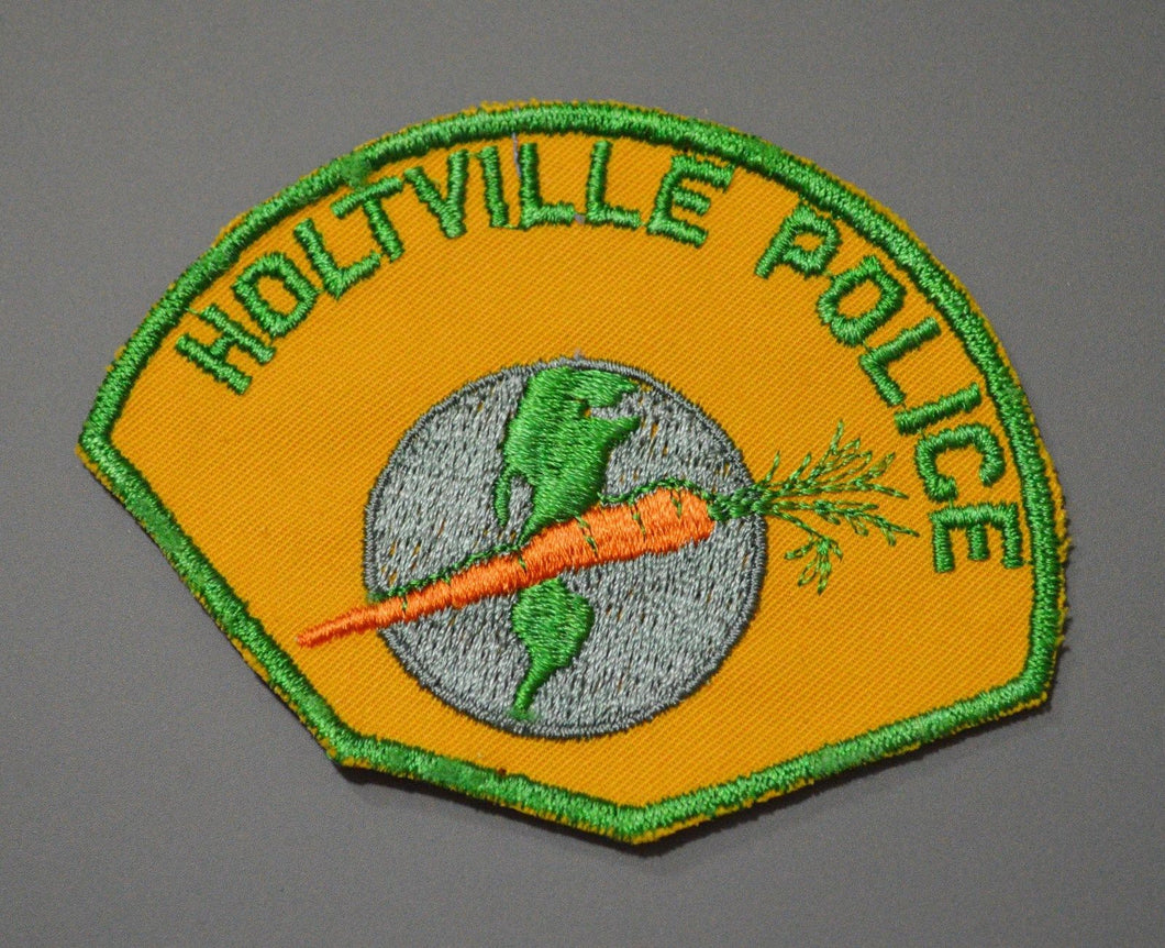 Holtville California Police Patch ++ o/s CA Carrot + Globe Twill version