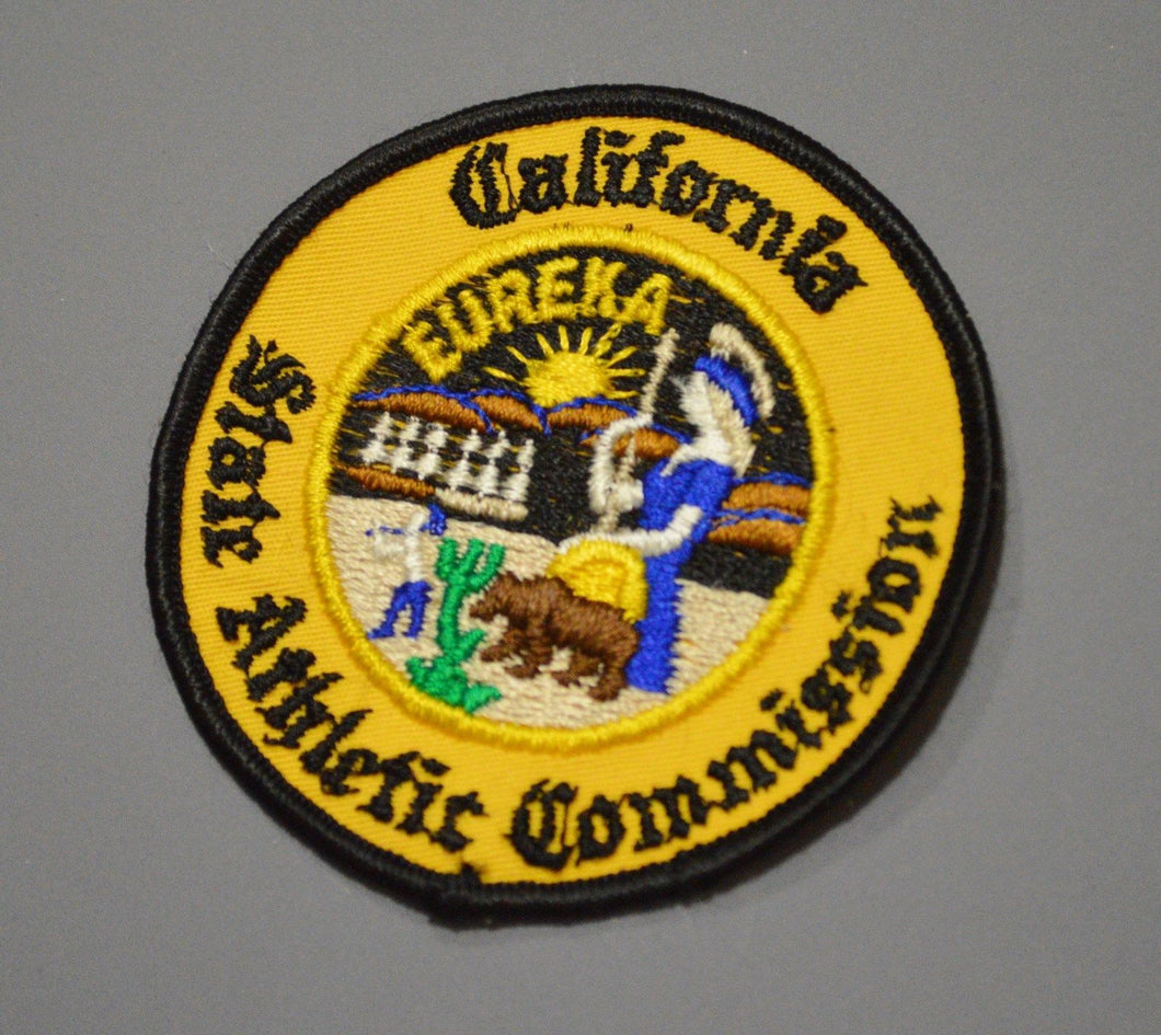 California State Athletic Commission Patch ++ Mint CA HTF
