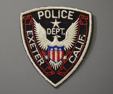Exeter California Police Patch ++ 1st Issue Mint CA