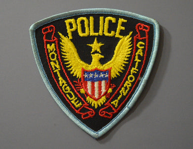 Montague California Police Patch ++ Defunct Last Issue CA