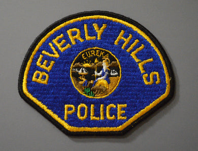 Beverly Hills California Police Patch ++ CA State Seal 1960's