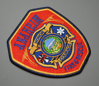 Anaheim California Fire & Rescue Shoulder Patch ++ Orange County CA