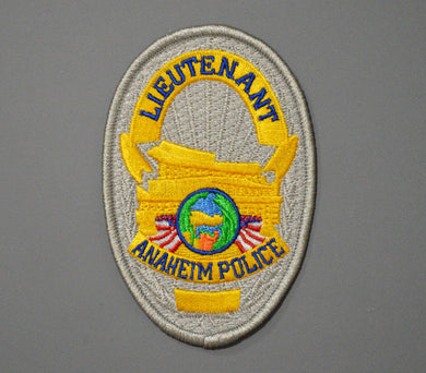 Anaheim California Police Lieutenant Badge Patch