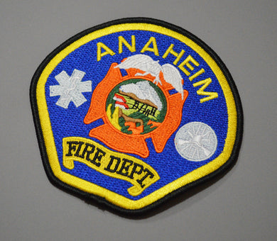 Anaheim California Fire Dept. Patch ++ Orange County CA
