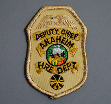 Anaheim California Fire & Rescue DEPUTY CHIEF Badge Patch ++ Orange County CA