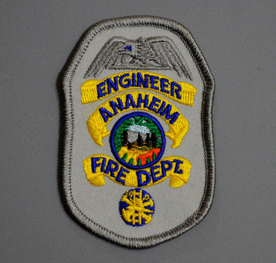 Anaheim California Fire & Rescue ENGINEER Badge Patch ++ Orange County CA