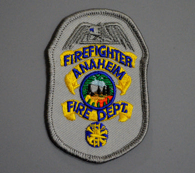 Anaheim California Fire & Rescue FIREFIGHTER Badge Patch ++ Orange County CA