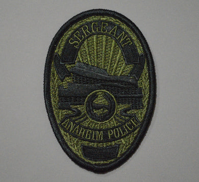Anaheim California Police SWAT Sergeant Badge Patch