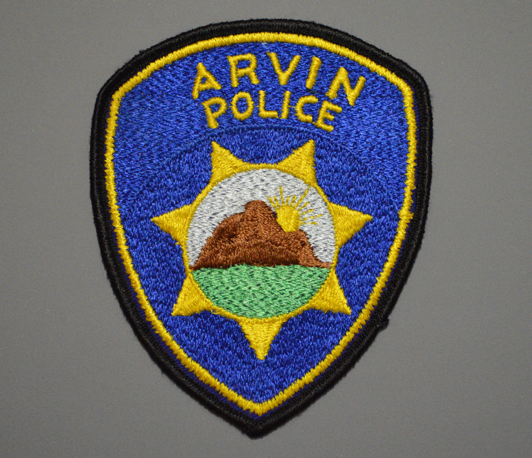 Arvin California Police Patch ++ o/s CA Mountain Scenery version