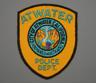 Atwater California Police Patch ++ o/s Mint Merced County CA