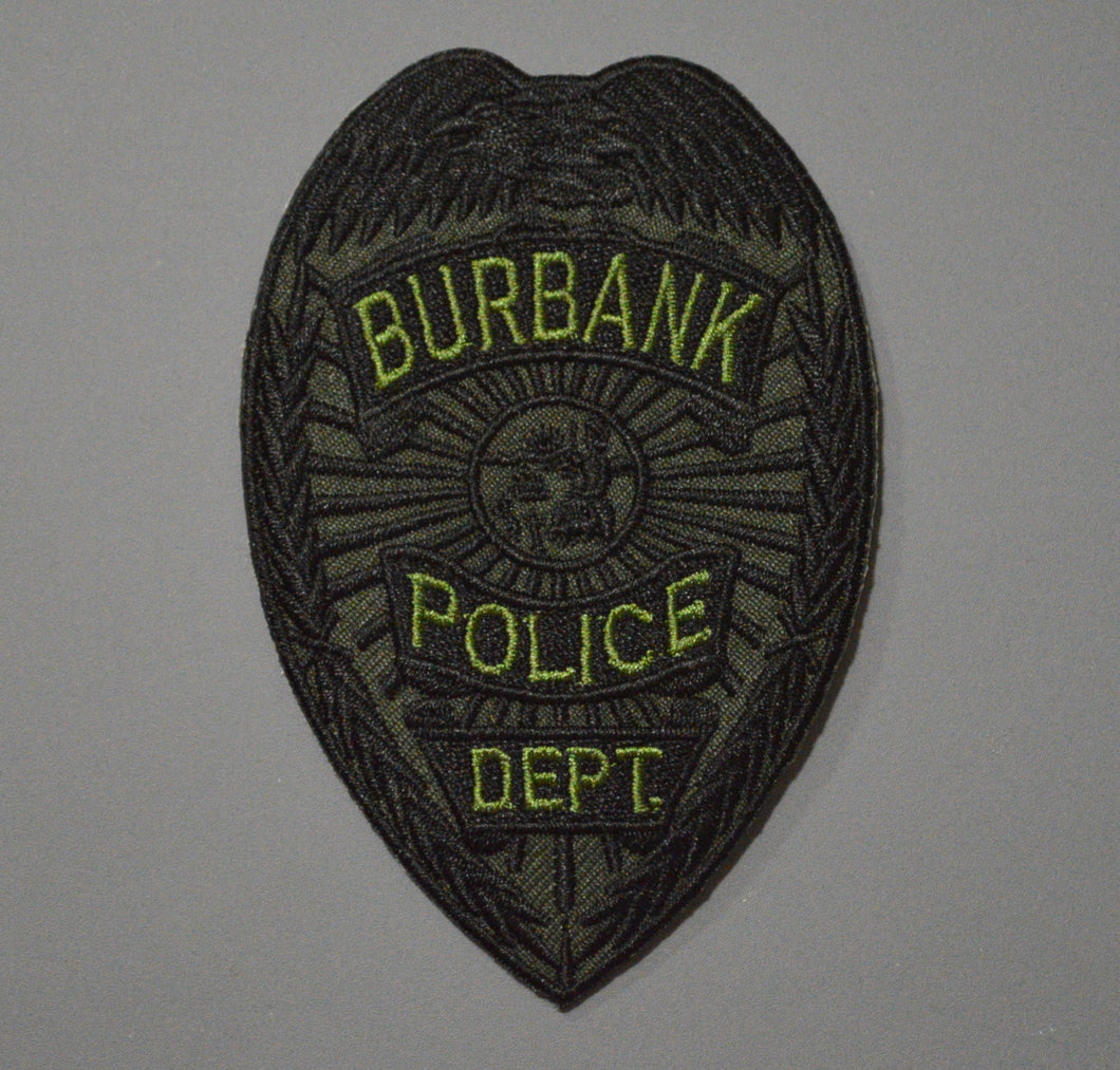 Burbank California Police Subdued Badge Patch