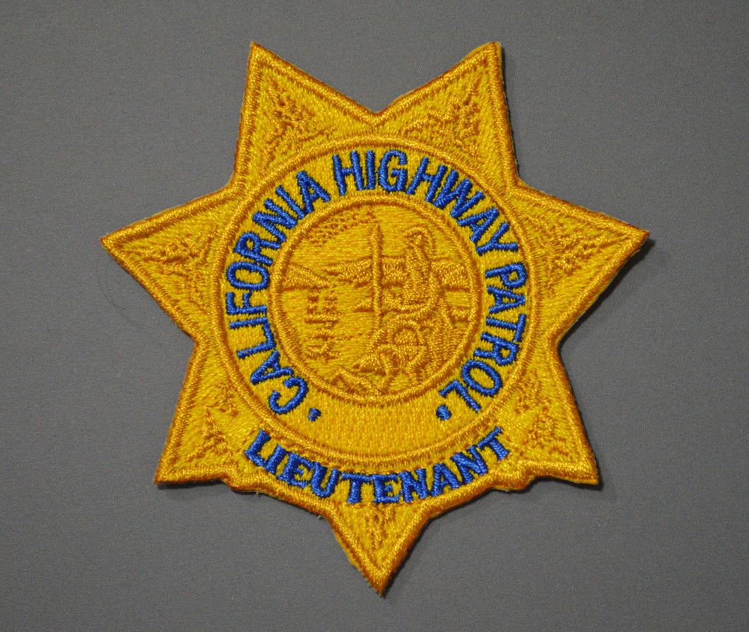 California Highway Patrol Lieutenant Rank Badge Patch