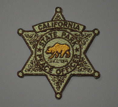 California State Parks Peace Officer Subdued Badge Patch