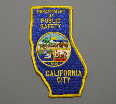 California City Police Patch ++ o/s Mint CA State Shape