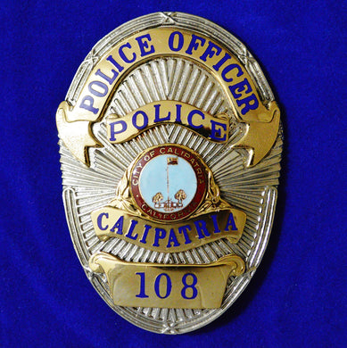 Calipatria California Police Officer Badge