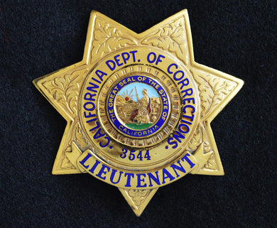 California Department of Corrections Lieutenant badge