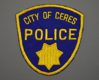 Ceres California Police Patch ++ o/s 2nd Issue Mint Merced County CA