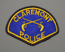 Claremont California Police Patch ++ o/s Mint CA Solid Blue Center
