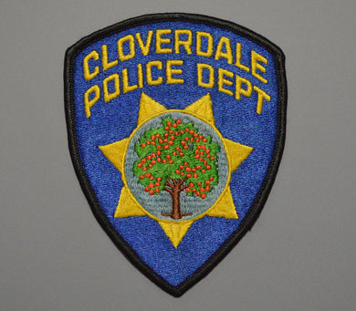 Cloverdale California Police Patch ++ Rare 1st Issue CA