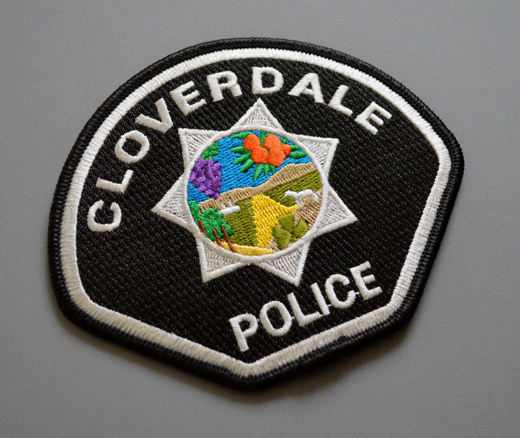 Cloverdale California Police Patch