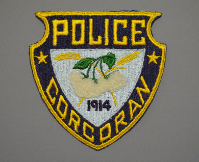 Corcoran California Police Patch ++ Mint CA Cotton Flowers
