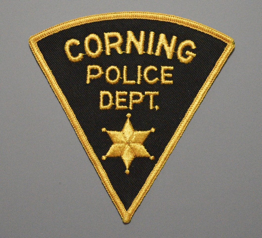 Corning California Police Patch ++ CA Pie Shape