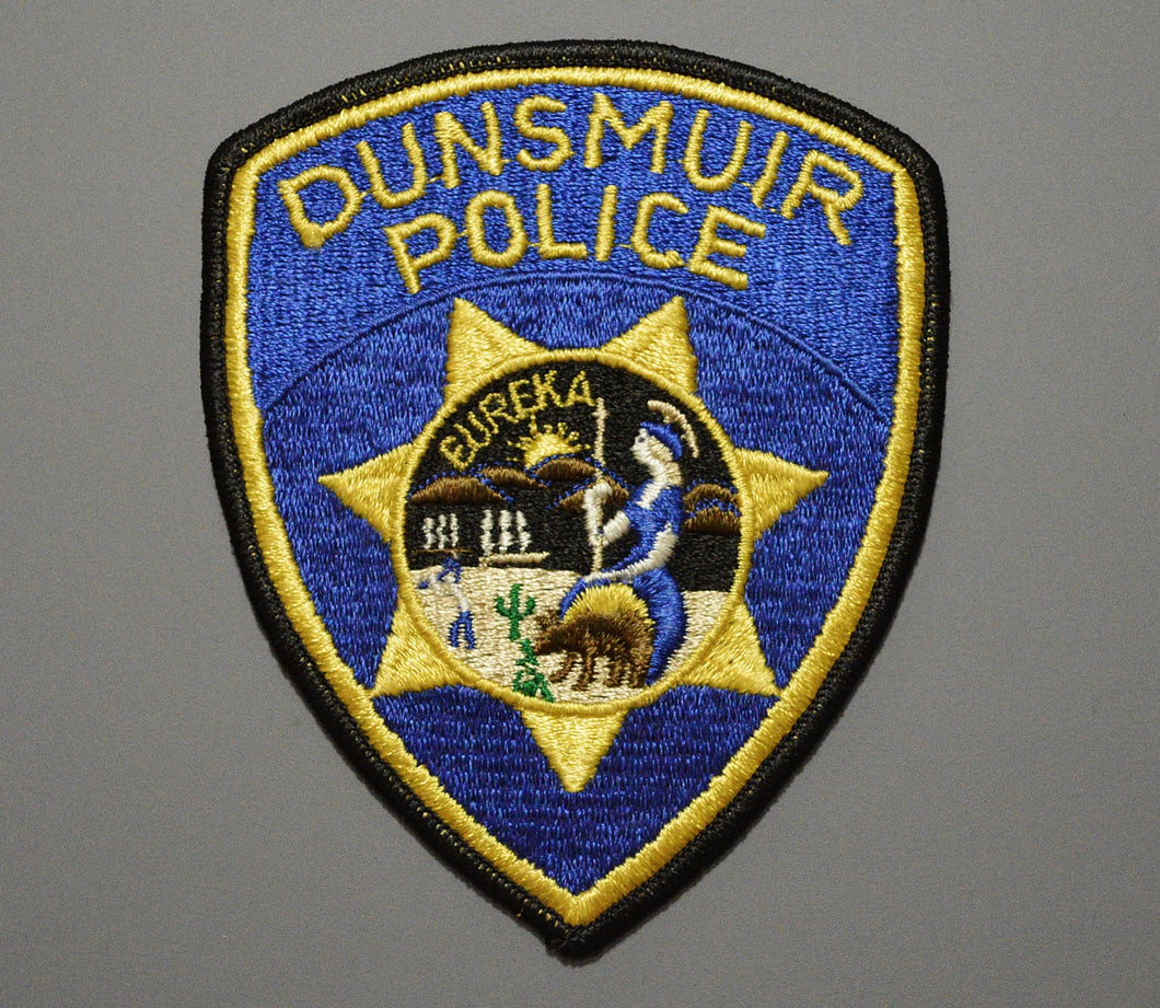 Dunsmuir California Police Patch ++ Defunct CHP style CA State Seal