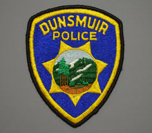 Dunsmuir California Police Patch ++ Defunct CHP style Mountain Scene CA
