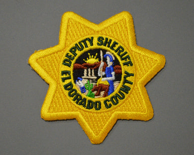 El Dorado County California Deputy Sheriff Badge Patch