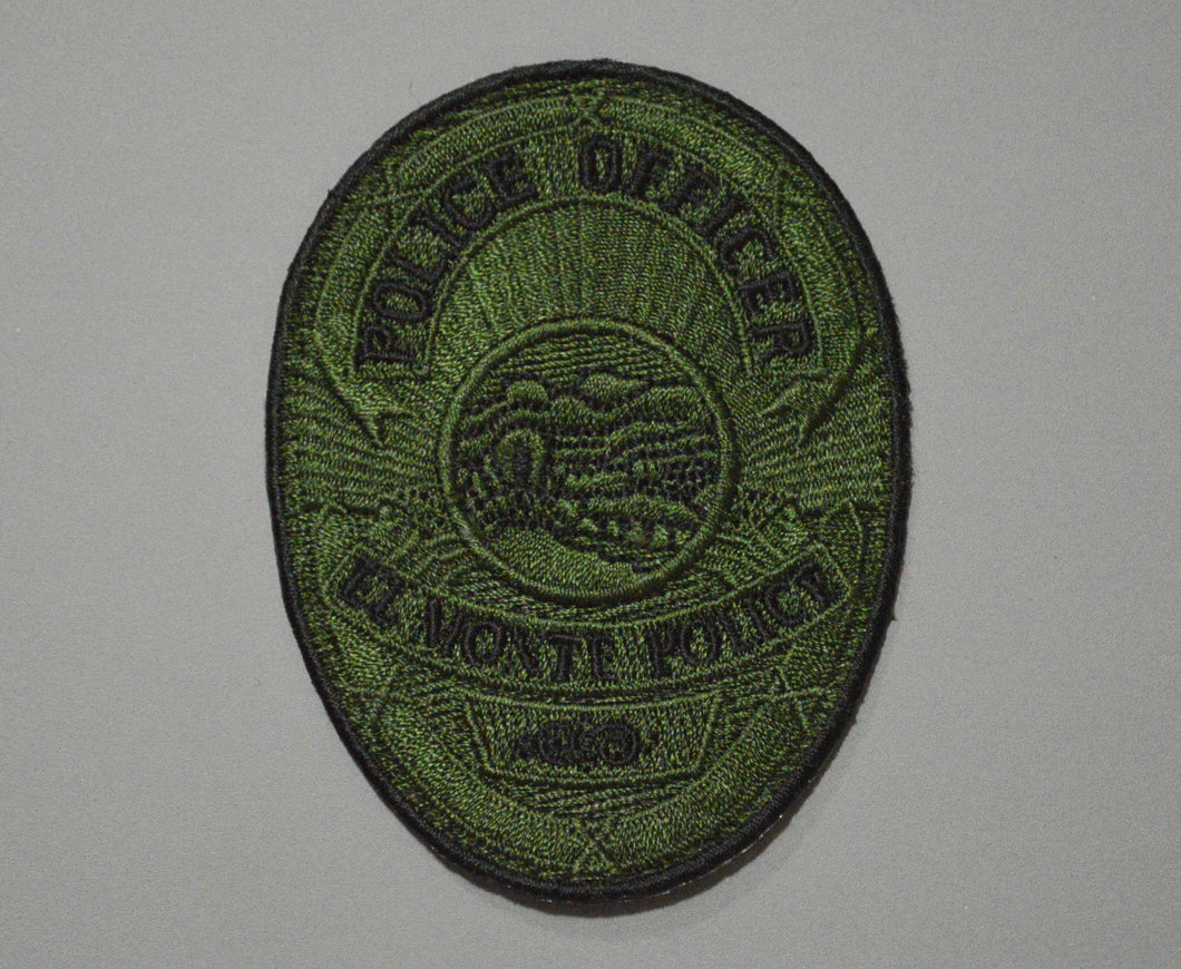 El Monte California Police Officer Subdued Badge Patch