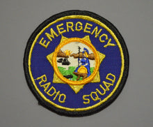 Emergency Radio Squad California Patch ++ Rare CA