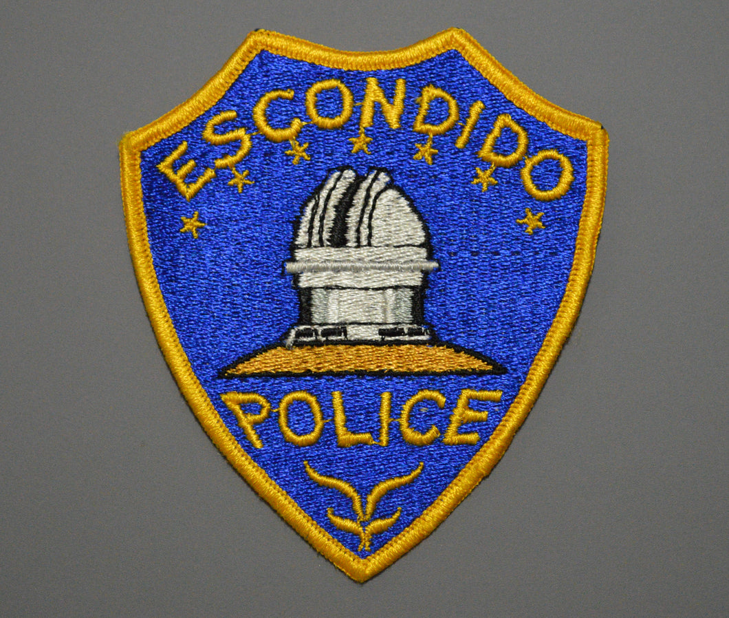 Escondido California Police Patch ++ Mint CA Palomar Observatory