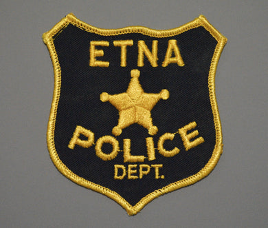 Etna California Police Patch ++ Rare 1st Issue Mint CA