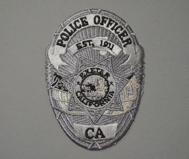 Exeter California Police Officer Badge Patch