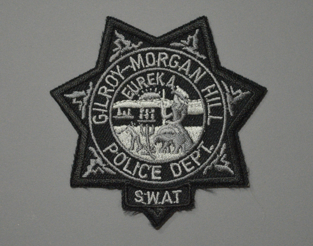 Gilroy-Morgan Hill California Police SWAT Subdued Badge Patch