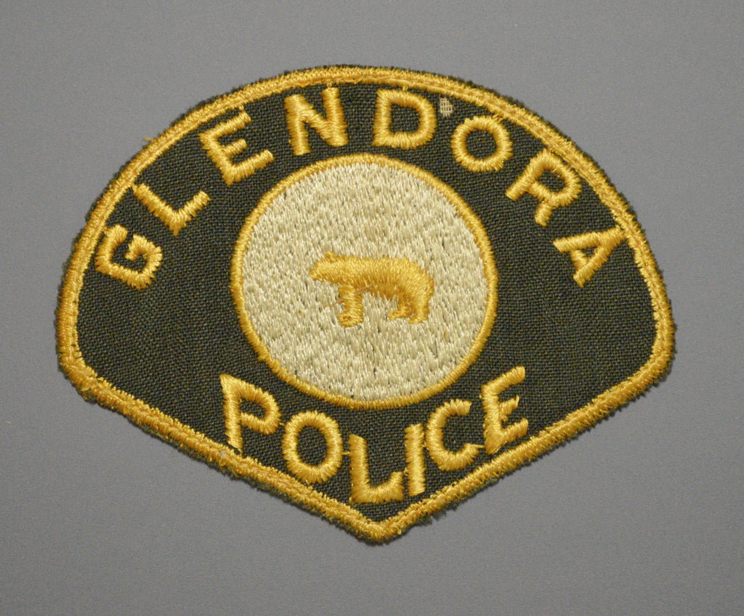 Glendora California Police Patch ++ Rare 1st Issue CA