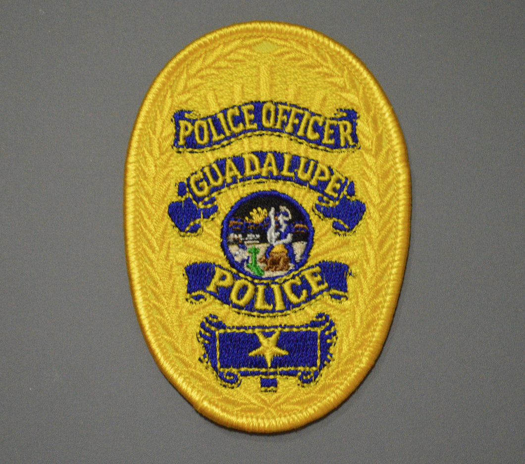 Guadalupe California Police Officer Badge Patch