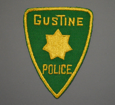 Gustine California Police Patch ++ Old Style Mint CA