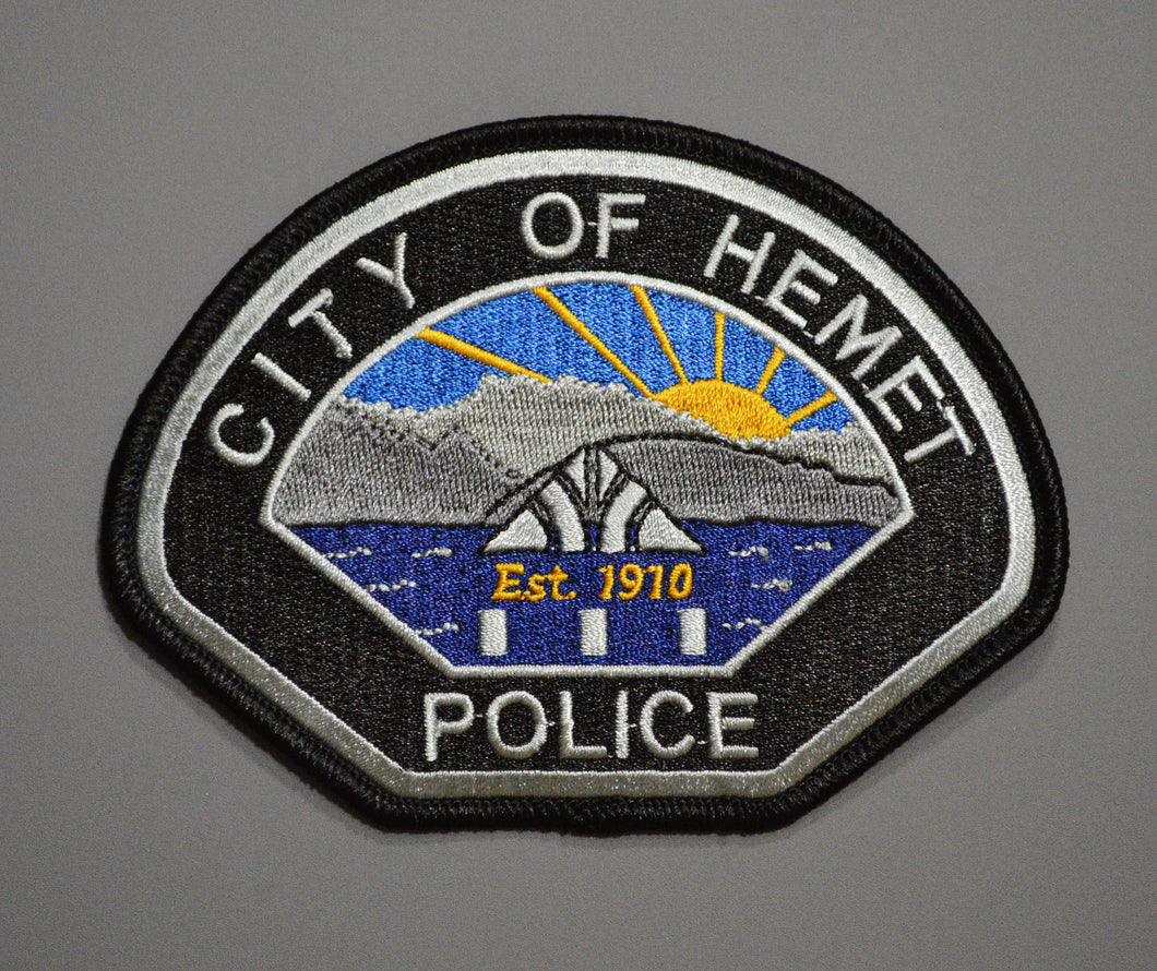 Hemet California Police Patch
