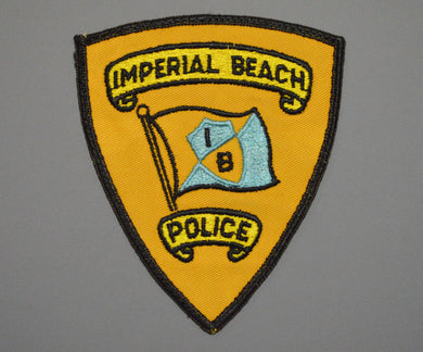Imperial Beach California Police Patch ++ Defunct Rare Twill version CA